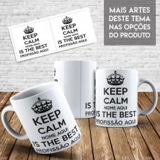 Caneca Profissões - Keep Calm