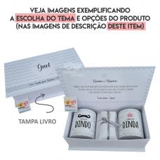 Convite Padrinhos Batizado Personalizado (Caixa Cartonagem) Tampa livro