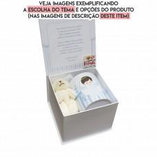 Convite 01 Caixa livro Padrinhos Batizado Personalizado  (Caixa Cartonagem)