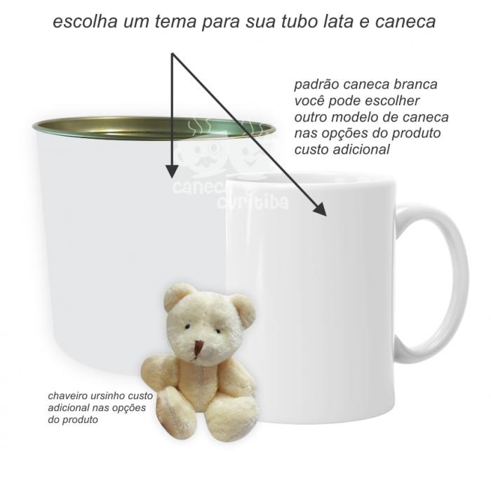 Convite Padrinhos Batizado Personalizado (Tubo lata + Caneca)